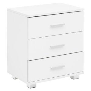 Noční stolek nachtkästchen Š: 45cm Bílý