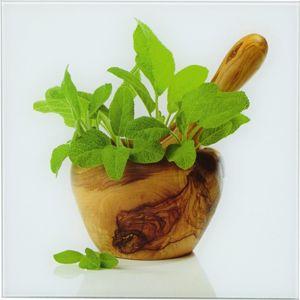 Obraz skleněný Green kitchen Herbs