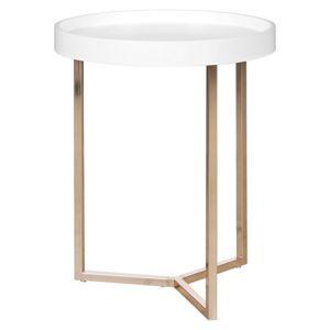 Odkládací stolek Wl5.239 Bílý/mědený