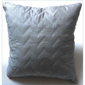 Povlak na Polštář Zickzack, stříbrná, 40/40cm