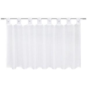 Záclona krátká kerstin, 140/50cm, Bílá
